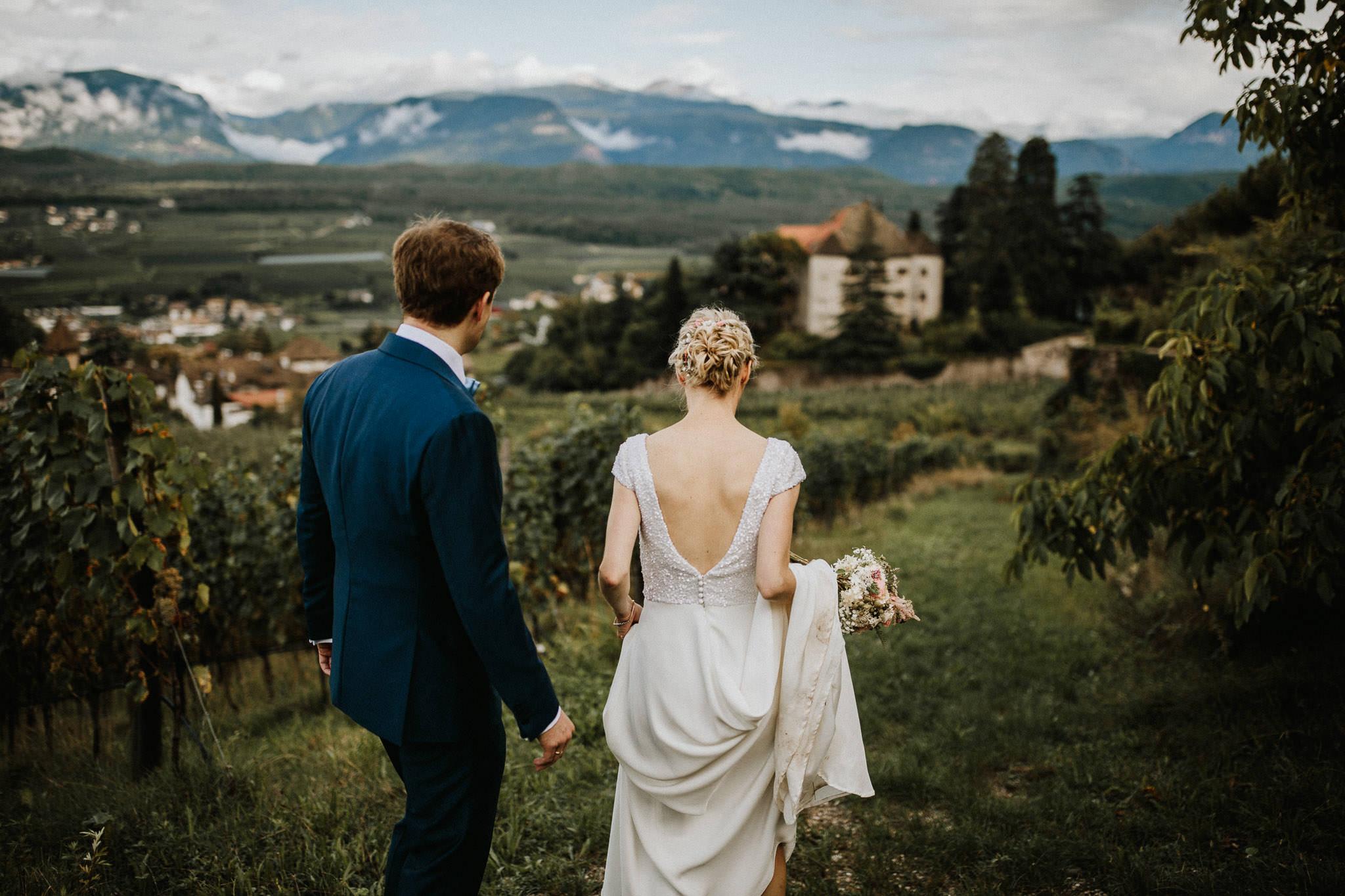 Hochzeit auf Schloss Englar in Eppan bei Bozen in Südtirol Italien